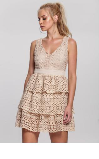 0adf2e20 Beżowa Sukienka Grinning